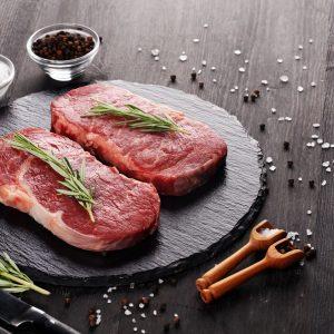 A Pair of Organic Grass Fed Rump Steaks
