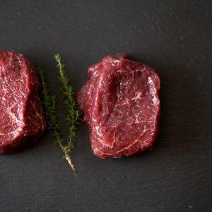 A Pair of Organic Grass Fed Fillet Steaks