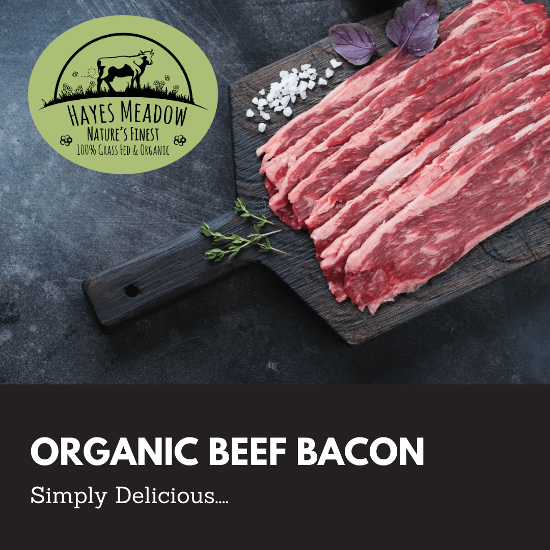 Organic Unsmoked Beef Belly Bacon