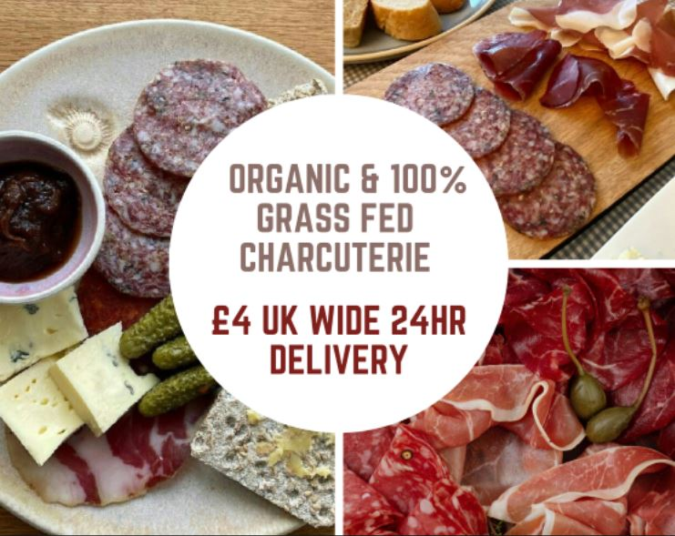 Organic and 100% Grass Fed Charcuterie – £4 –  24hr UK Shipping